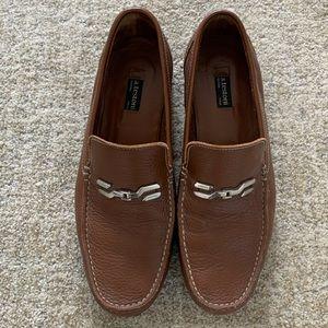 a testoni Caramel Brown Leather Bit Loafer, US 9